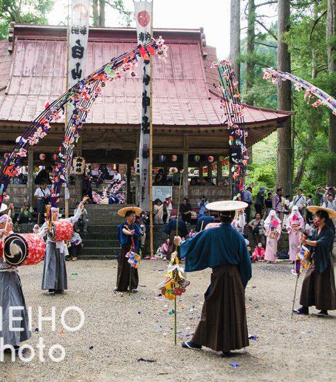 秋の白山神社祭礼