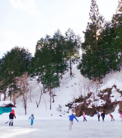 小川小学校 スケートリンク開き